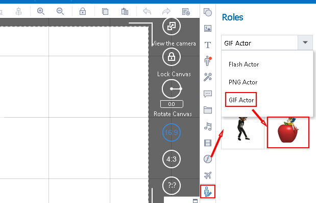 how to add actor